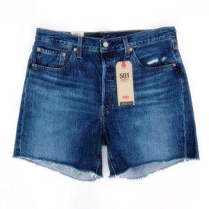 LEVI'S Women's 501 Button Fly Hi Rise Jean Shorts